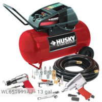 Husky 13 Gallon Air Compressor Kit, WL651999AJ