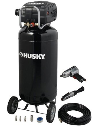 Husky 26 Gallon Portable Electric Air Compressor F2S26VWDVP1
