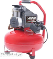 Husky 6 Gallon Air Compressor TA-1524P-K4