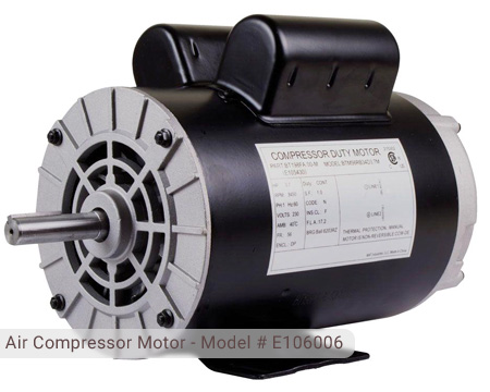 Husky Air Compressor Motor - Model # E106006