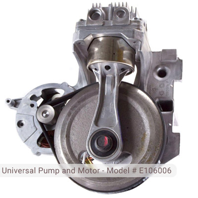 Universal Pump and Motor for Husky Air Compressor Model # E106639